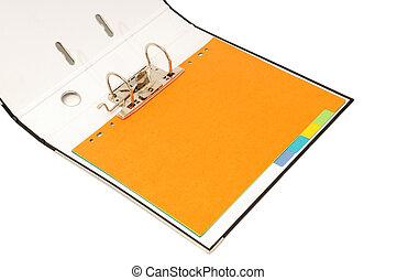 loose-leaf binder - loose-leaf binder isolated on a white...
