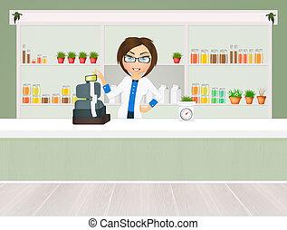 herbalist's shop - illustration of herbalist's shop