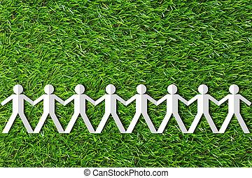 Business Teamwork Concept - Business teamwork concept, paper...
