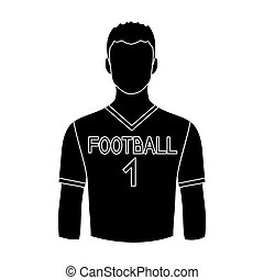 Footballer.Professions single icon in black style vector...