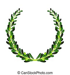 Wreath from olive branches.Olives single icon in cartoon style vector symbol stock illustration web.