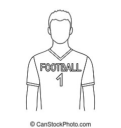 Footballer.Professions single icon in outline style vector...