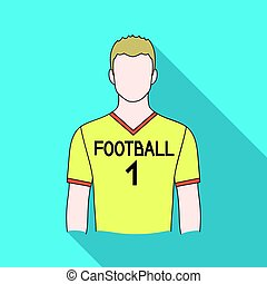 Footballer.Professions single icon in flat style vector...