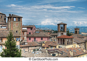 View of Perugia. Umbria.