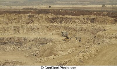 Truck loading in a quarry