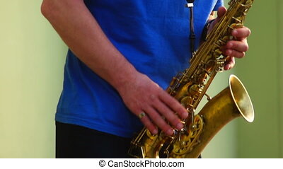 City music saxophone - Saxophone live at jazz on the street...
