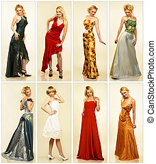 Woman fashion - Collection of the woman evening dresses