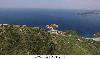 The Church of St. Sava, Montenegro, near the island of Sveti Ste