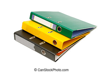 loose-leaf binders isolated on a white background...