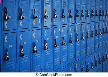 School boxes for storage of school supplies and personal...