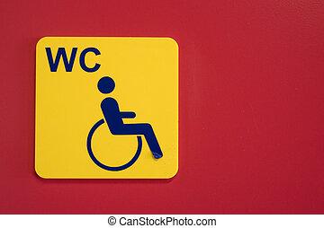 handicap, carrozzella, segno