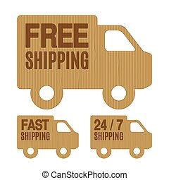 Free Shipping and Free Delivery Labels