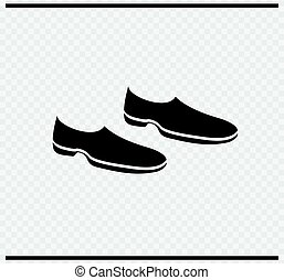 Shoes icon black color on transparent