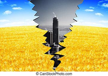 Urbanization Eco concept