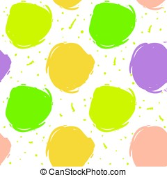 Seamless decorative pattern with color ink draw circles