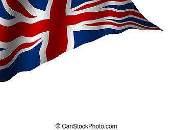 England flag isolated on white background