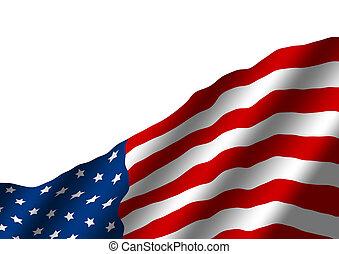 USA flag isolated on white background