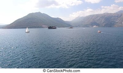 The island of Gospa od Skrpjela, Kotor Bay, Montenegro....