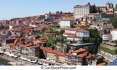 Old Porto city, Portugal - Panoramic view of old Porto city...