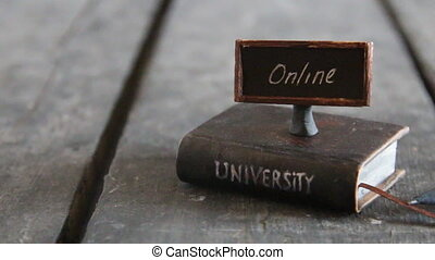 university online degrees idea - Book - computer and...