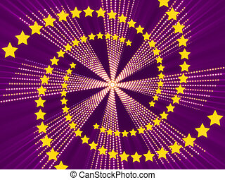 purple abstract background and stars