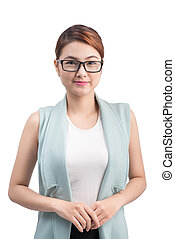 Portrait of an attractive young asian businesswoman