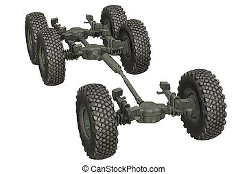 Truck military undercarriage - Truck military chassis...