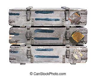armas, viejo, Cajones