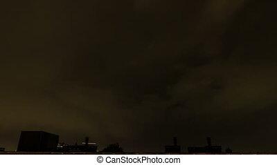 Thunder timelapse Amsterdam - 4K UHD timelapse video of...