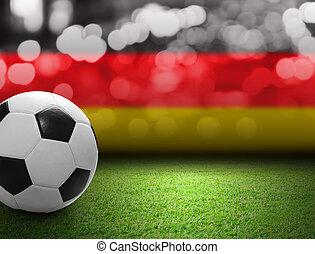 Soccer ball on the soccer field