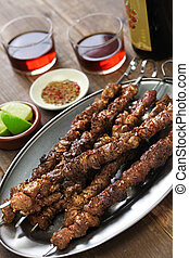 chinese lamb skewers, yang rou chuan - chinese spicy cumin...