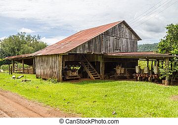 Old farm barn