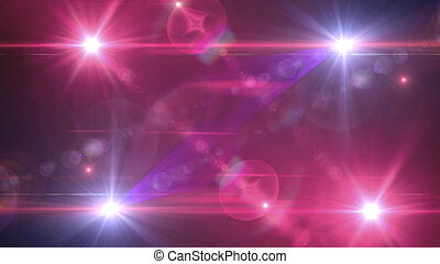 flash flare with pink light background