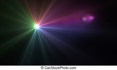 volume light flare - Beautiful color light with lens flare....