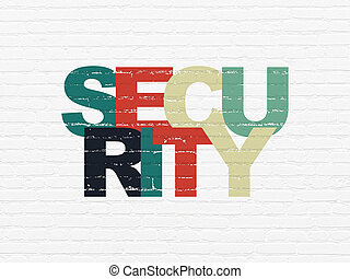 Safety concept: Security on wall background