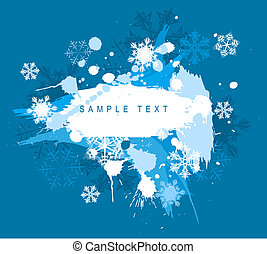 Winter abstract spots background with place for your text