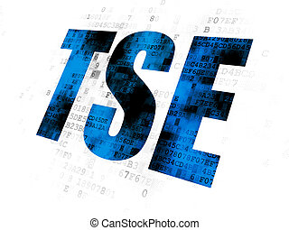 Stock market indexes concept: TSE on Digital background
