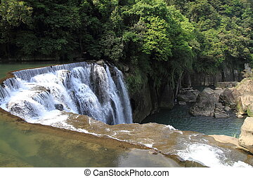 Shifen waterfall in Shifen, Taipei, Taiwan