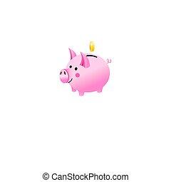 Vector icon of a piggy bank