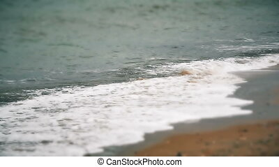 beach wave slow motion