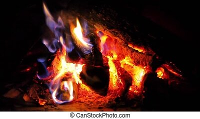 Romance background with fire