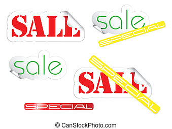 Set of fresh sale labels