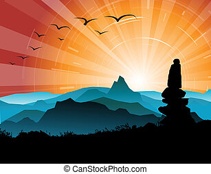 Silhouette of the stones