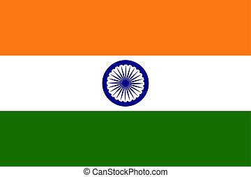 Indian flag , vector illustration Political symbol color