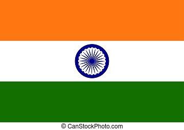 Indian flag , vector illustration Political symbol color