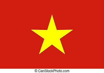 Flag of Vietnam vector illustration.