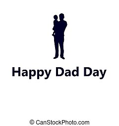 Silhouette of dad with a small child