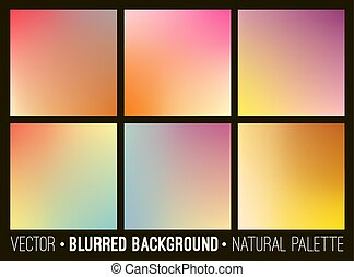 Colorful gradient abstract backgrounds set. Smooth template design for creative decor of covers, banners and websites.