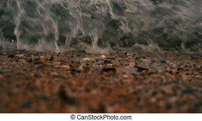 Wave splash slow motion