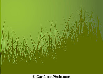Green vector grass background illustration